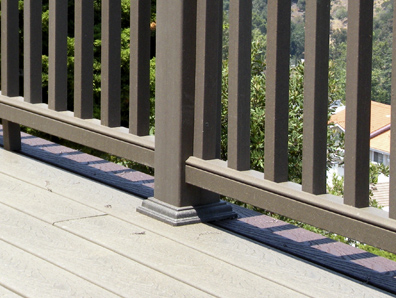 The Sun Coast Deck Way - A deck with railing posts that are properly finished